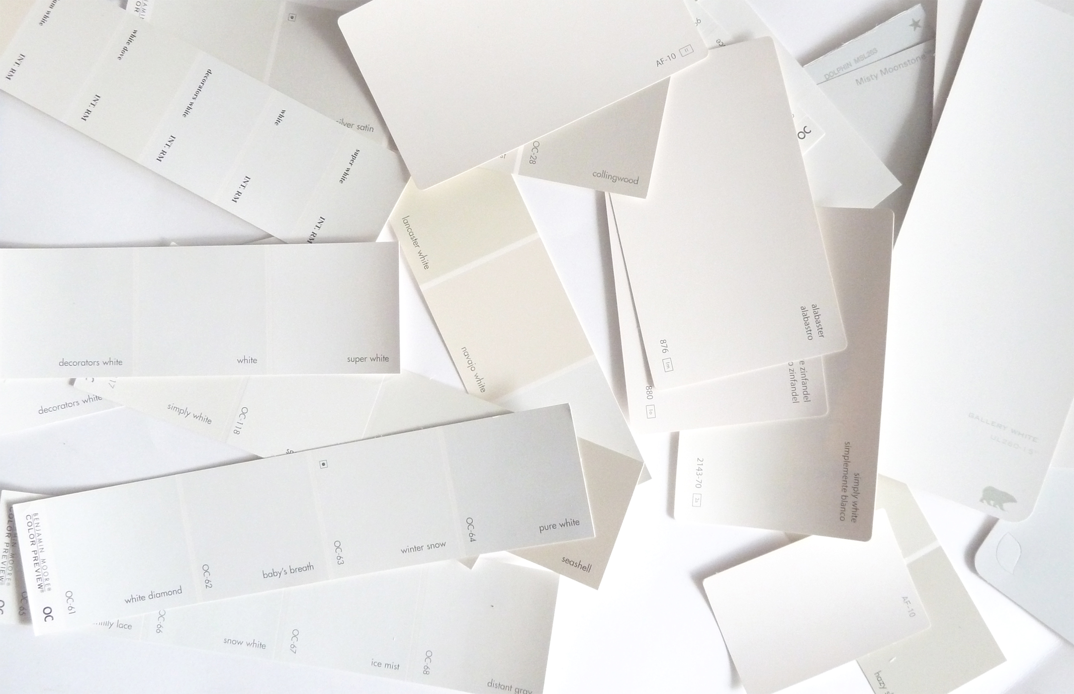 Hunted interior my favorite white paints for White paint swatches